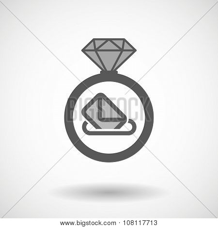 Isolated Vector Ring Icon With  A Ballot Box