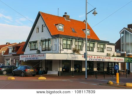 Donuts And Grill House And Autos Near It In Zwanenburg, The Netherlands