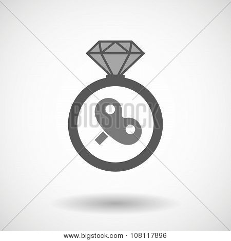Isolated Vector Ring Icon With
