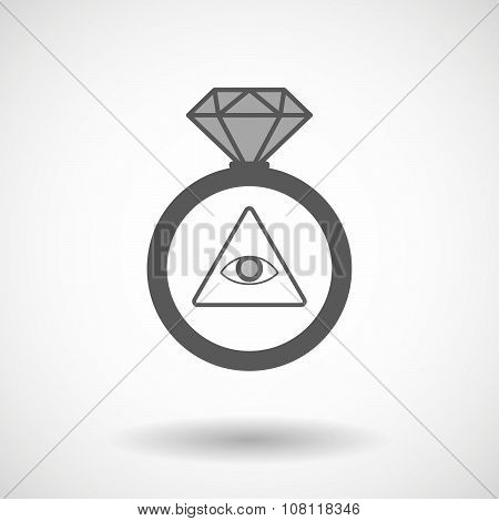 Vector Ring Icon With An All Seeing Eye
