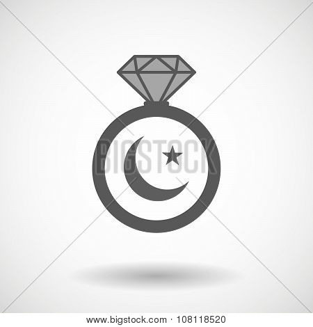 Vector Ring Icon With An Islam Sign