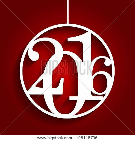 Christmas 2016 Alphabet Number Vector Illustration