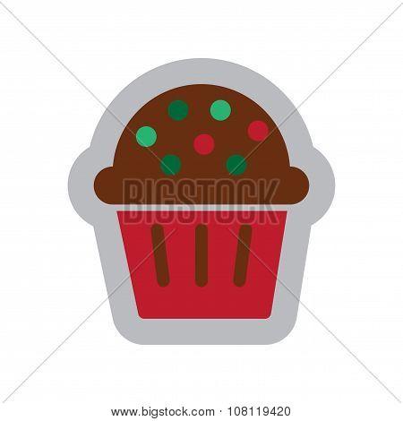 flat icon with long shadow celebratory cake