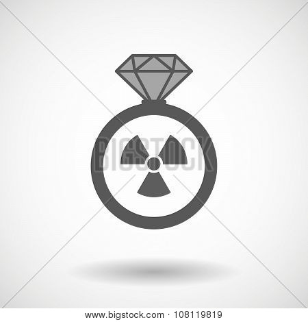 Isolated Vector Ring Icon With A Radio Activity Sign