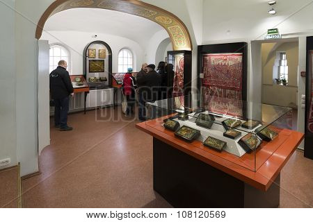 VLADIMIR, RUSSIA -07,11,2015. Museum of crystal and varnished miniature temple is located in  Old Be
