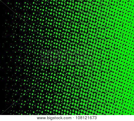 Green And Black Halftone