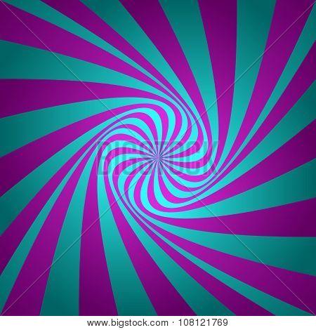 Cyan magenta whirl background