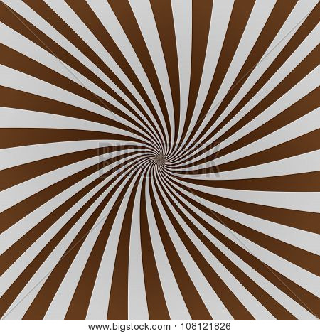 Grey and brown twisted ray burst background