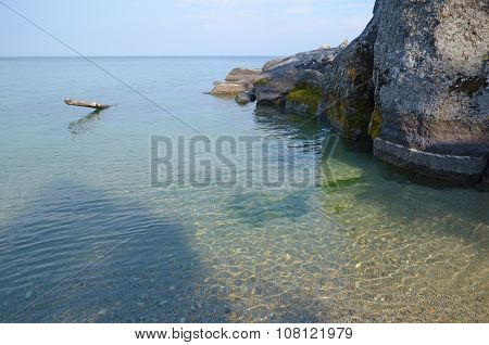 Smooth And Clear Water Of Lake Baikal