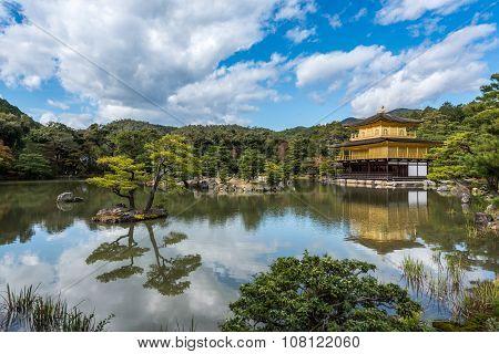 Golden pavilion of Kyoto, japan, known as kinkakuji