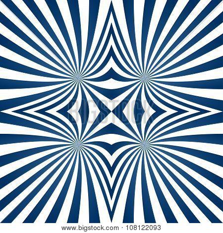 Blue hypnotic curved stripe background