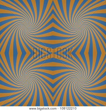 Azure bronze whirl background
