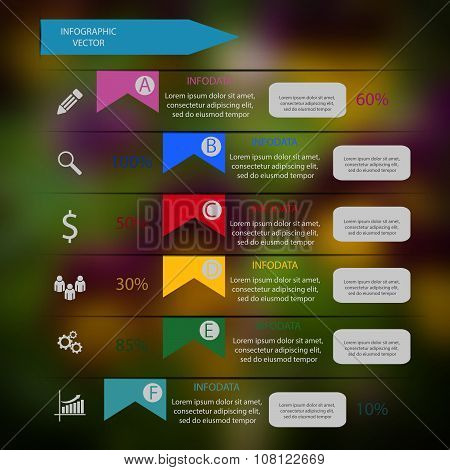 Colorful Vector Design For Workflow Layout Diagram Number Options Web Design Infographics Eps 10