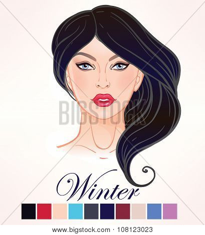 Seasonal skin color types for women Winter.