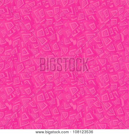 Pink seamless irregular rectangle pattern background