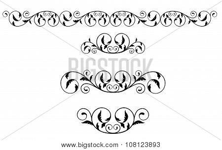 Black floral vignettes