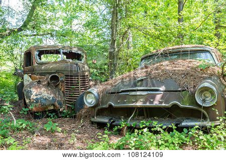 Desoto And Old Truck
