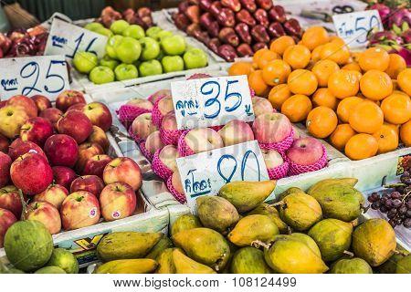 Fruit Market In Bangkok, Thailand.