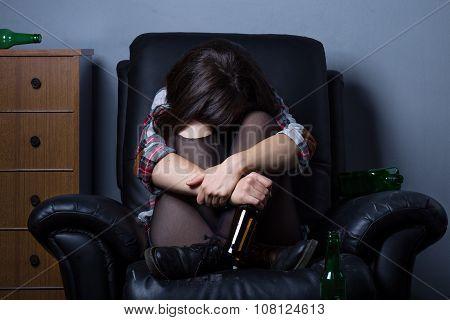 Sad Drunk Woman