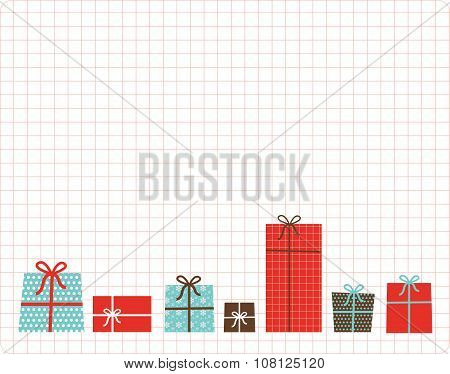 christmas and new year present box set. card