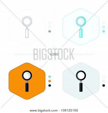 Magnifying Glass Icons 4 Design