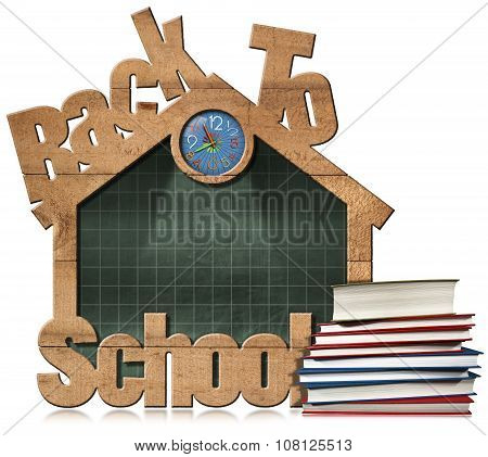 Back To School - Blackboard School Building