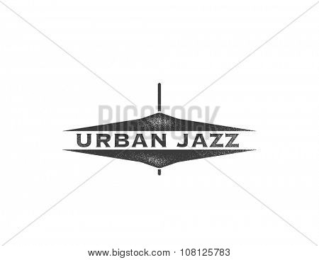 Urban jazz. Art concept. Art background. Vector illustration in grunge style.