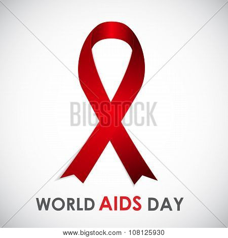 Red Ribon - Symbol of 21 December World AIDS Day