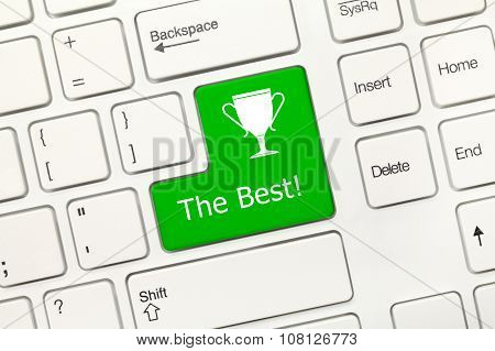 White Conceptual Keyboard - The Best (green Key)