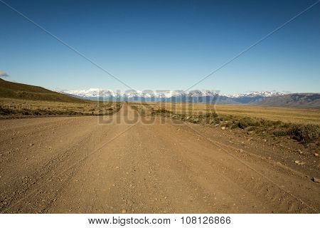 long gravel road patagonia