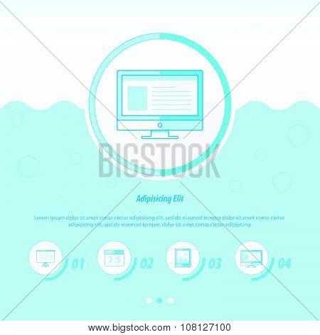 Computing Concept Design Template Blue Color