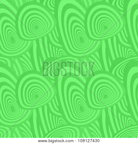 Green seamless oval pattern background