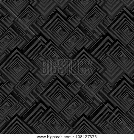 Black seamless rectangle pattern background