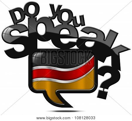 Do You Speak German - Speech Bubble