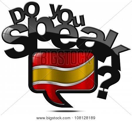 Do You Speak Spanish - Speech Bubble