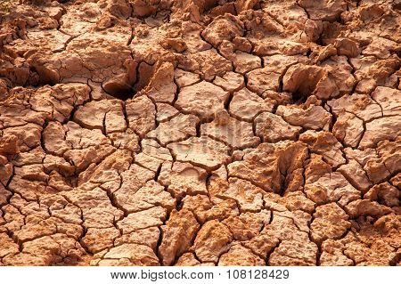 Soil Cracks Desert Sands And Global Warming