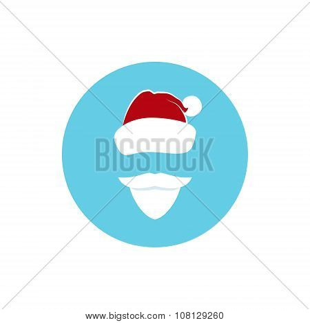 Icon Colorful  Santa Claus Face
