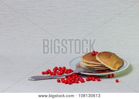 Stack of Pancakes, Breakfast on table