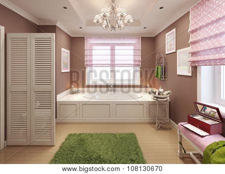 Children's Bathroom Art Deco Design