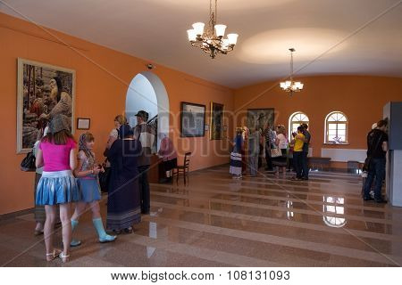 Tourists In One Of Museum