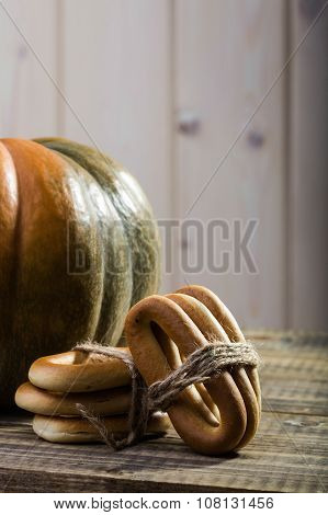 Pumpkin With Bunches Of Cracknels