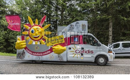 Cofidis Vehicle - Tour De France 2014
