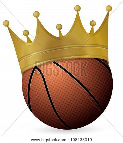Basketball Ball With Crown