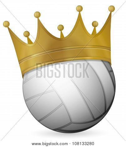 Volleyball Ball With Crown