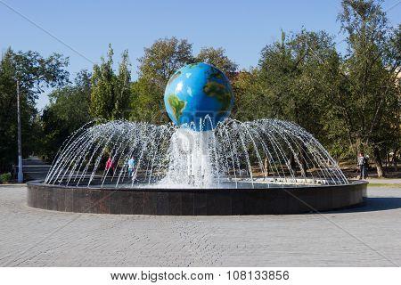 Globe Fountain. Volgograd, Russia