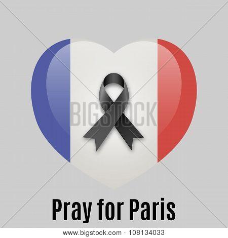 Pray for Paris heart