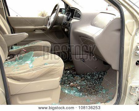Car Accident Interior Broken Glass