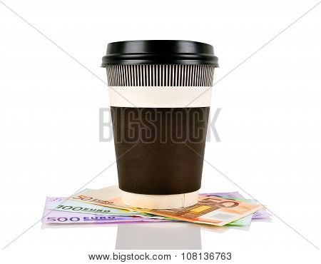 Coffee Cup And Euro