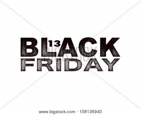 Black friday. Vector background in grunge style.