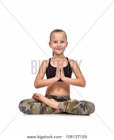 Girl Sitting Lotus Position